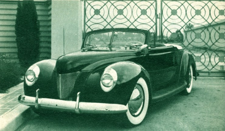 Ralph Jilek's sectioned '40 Convertible, built by Valley Custom