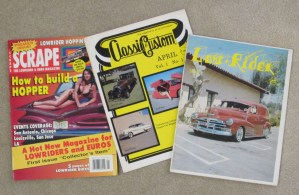 Scrape, Classic Custom, and Low-Rider magazine covers