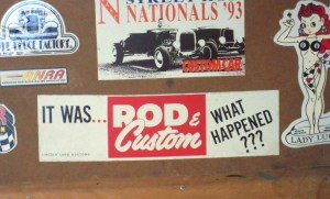 Rod and Custom bumper sticker