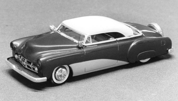 Miles Masa's chopped '52 Bel Air model car