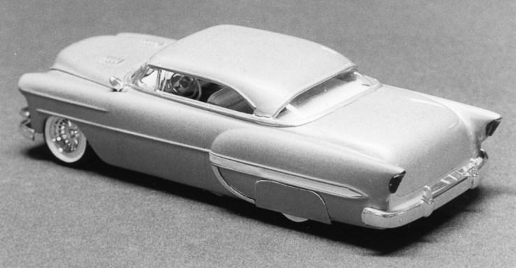 Miles Masa's chopped '54 Chevy model cars
