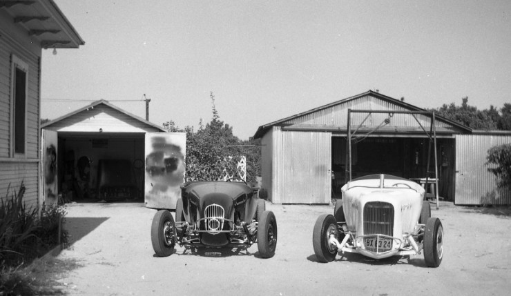 Marvin Webb's roadster and Dan Busby's roadster
