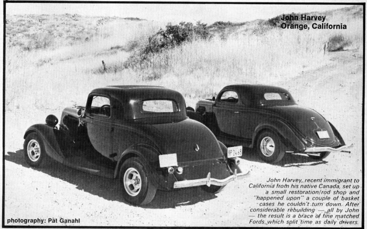 John Harvey's '34 and '36 3-window Fords