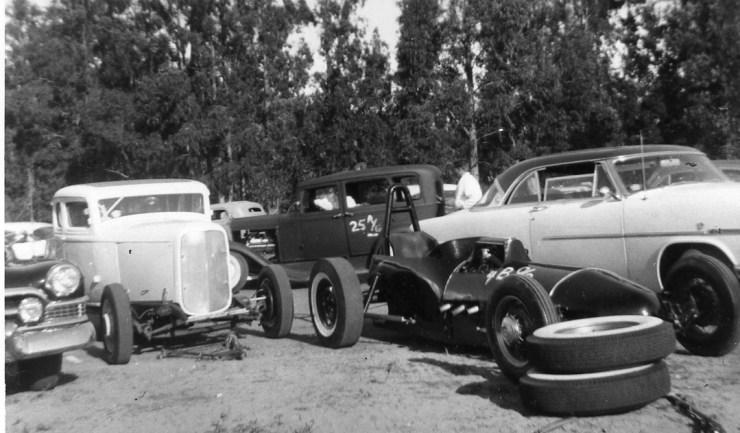 Hot rods and dragsters at Santa Maria
