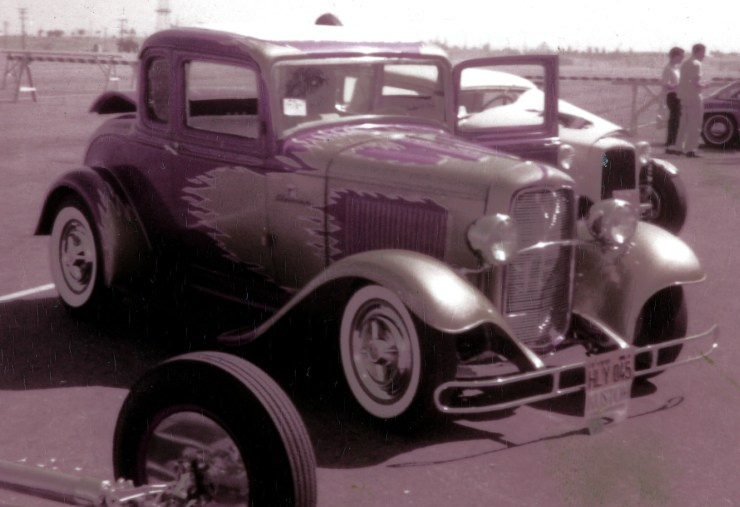"""George Sein's """"Flamer"""" '32 coupe"""