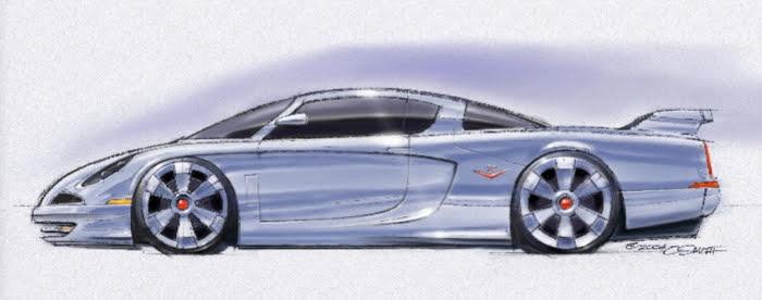 Charlie Smith artwork of '53 Studebaker race-car style