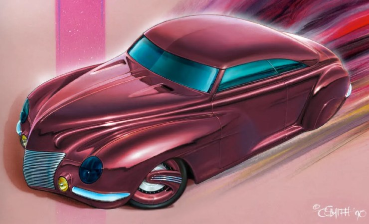 Charlie Smith artwork of custom Merc