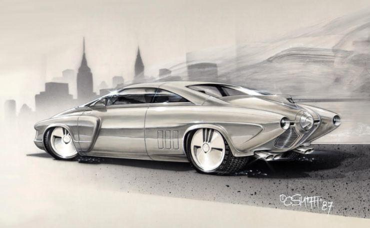 Charlie Smith artwork '51 Studebaker