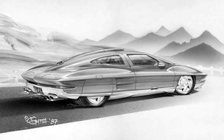 Charlie Smith artwork '63 split window Corvette Stingray