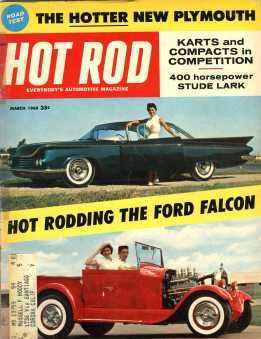 Hot Rod Magazine March 1960 cover