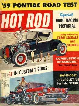 Hot Rod Magazine December 1958 cover