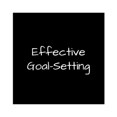 set goals effectively