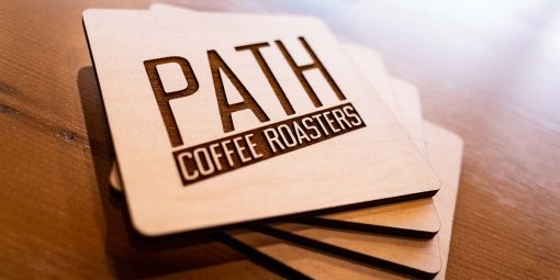 path coffee coasters