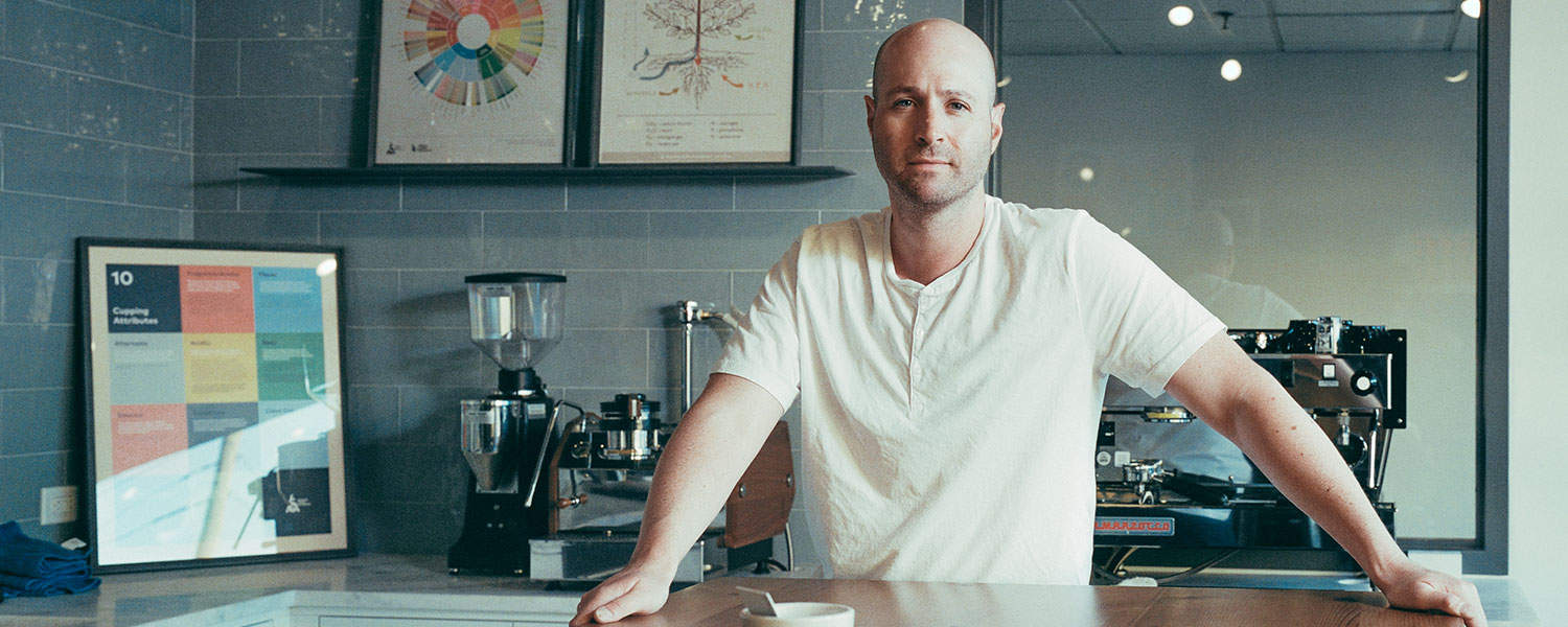 Owner Jason Richter In The Path Coffee Roasters Training Lab In Port Chester, Ny