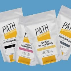 6oz coffee samples from Path Coffee Roasters