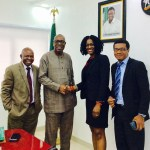 With Professor Ihovbere (Chairman Strategic Planning Unit) and Hon. Kingsley Ehigiamusor (Deputy Chief of Staff)
