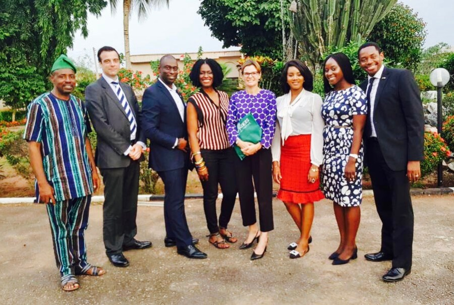 With members of the British High Commission to Nigeria
