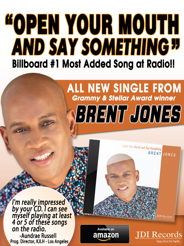 Brent Jones New Hit is Billboard 1 Most Added Song at