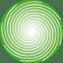 Einzelne grüne Spirale