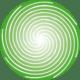 Sola espiral verde