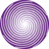 espiral roxa única