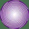 pojedyncza purpurowa spirala