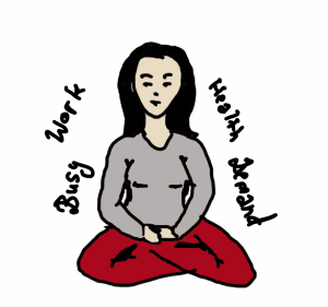 Meditating during stressful times
