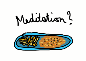Chips cheese beans meditation
