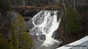 The falls in Eagle River.
