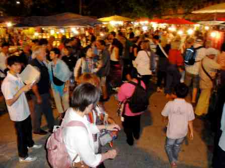 The crowd at one of the night markets.