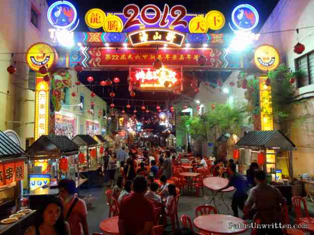 The main nightlife area of Jonker Walk.