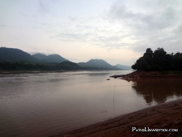 Air - Day breaking over the meeting river in Luang Prabang.