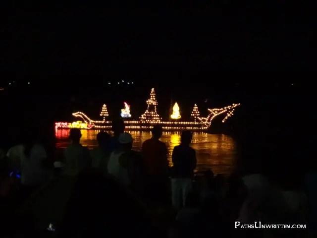 Fire - Ships burning at the Naga Fireballs celebration.