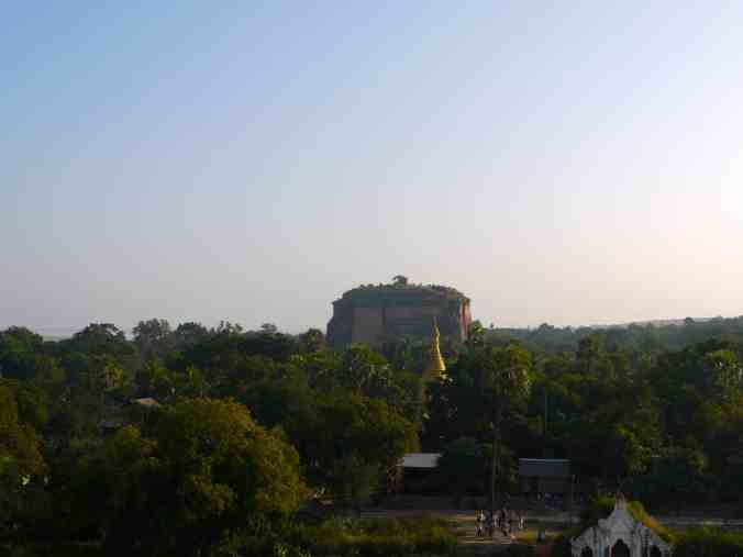 The scale of the Mingun Paya from a distance.