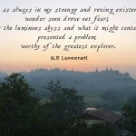 Monday Travel Quote:  The Luminous Abyss