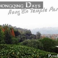 The Chongqing Days:  Hong'en Temple Park