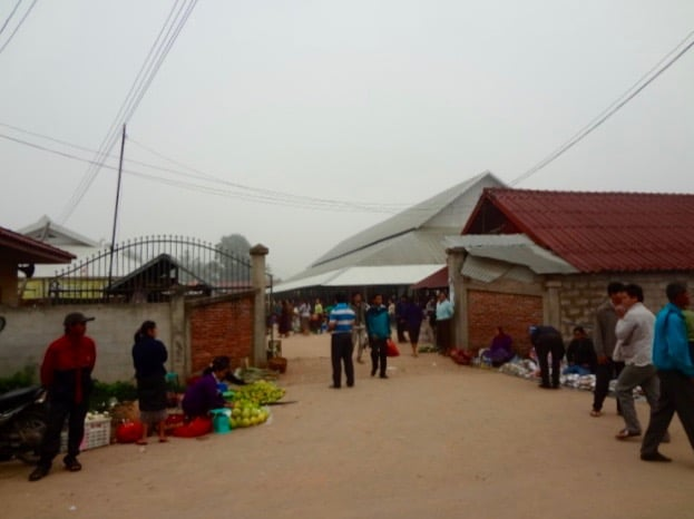 Entrance to Muang Sing's morning market.