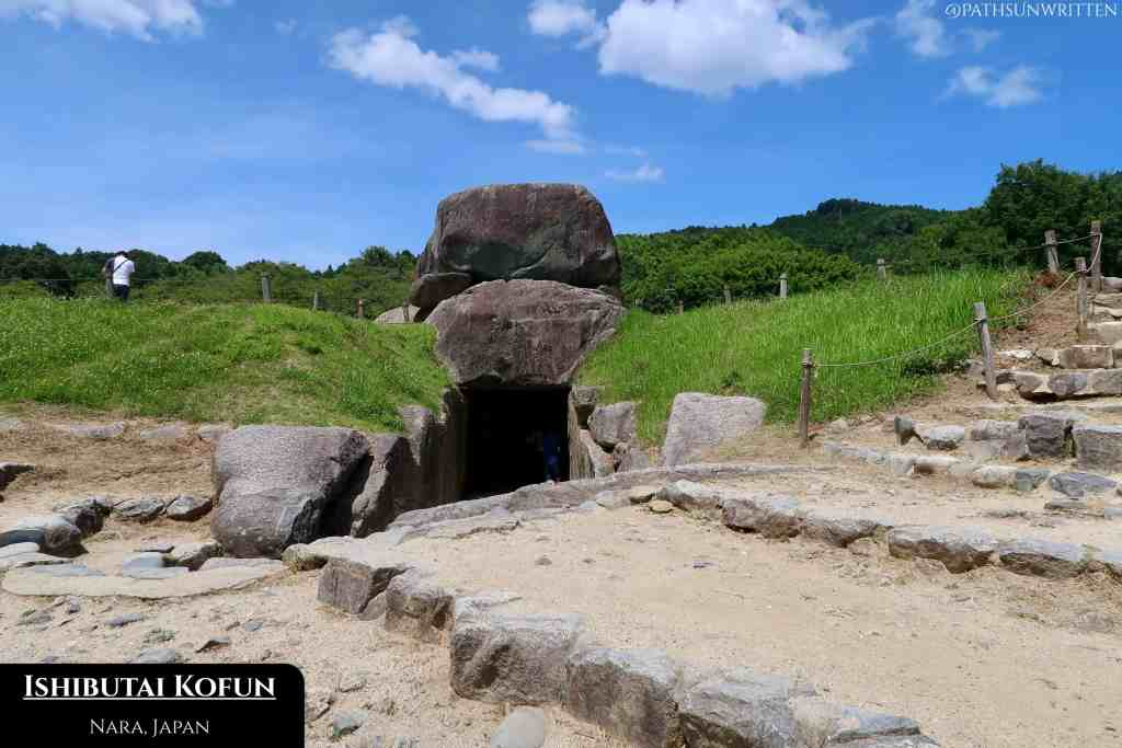 The megalithic tombs of Asuka-period kings were covered with earth in ornate kofuns.