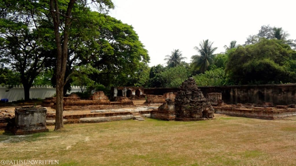 What little remains of the residence of King Narai.