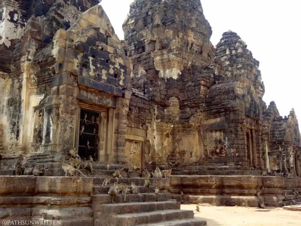 Lopburi's famous monkey temple.