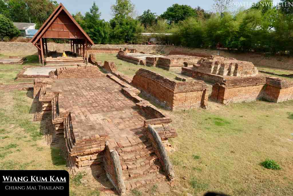 Wiang Kum Kam is Chiang Mai's predecessor city which was buried in floodwaters and forgotten for centuries. Most of the structures are now dug out from below ground level.