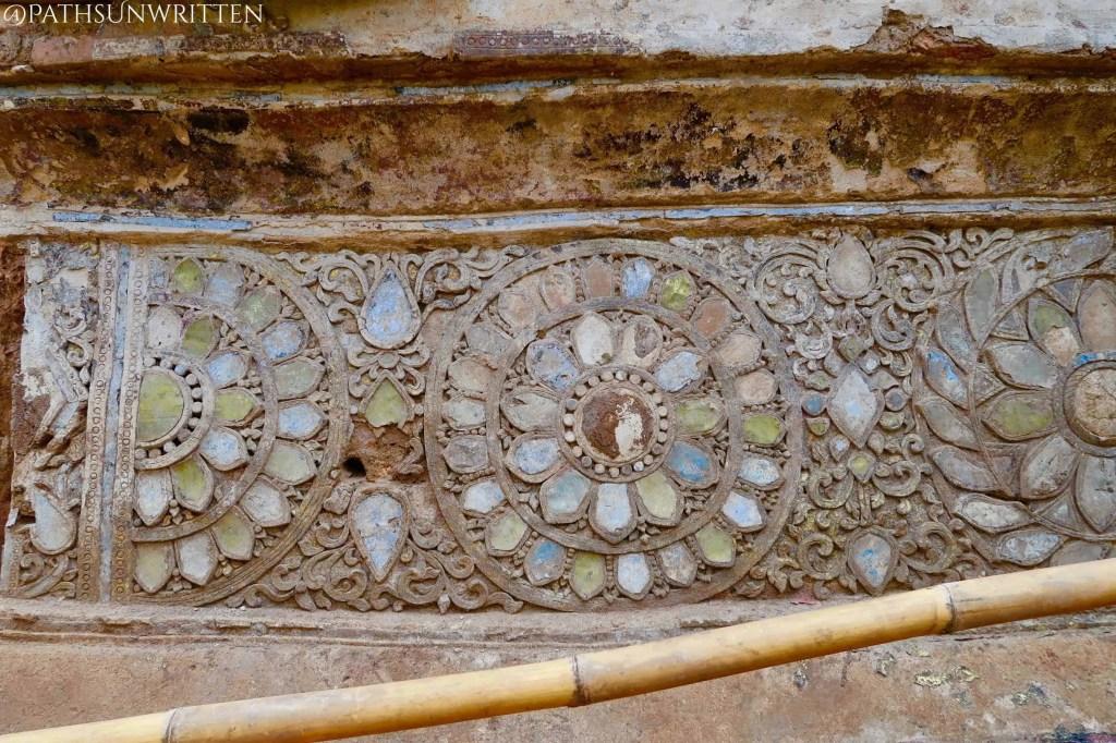 Close-up of the excavated ruins at Wat Yang Guang.