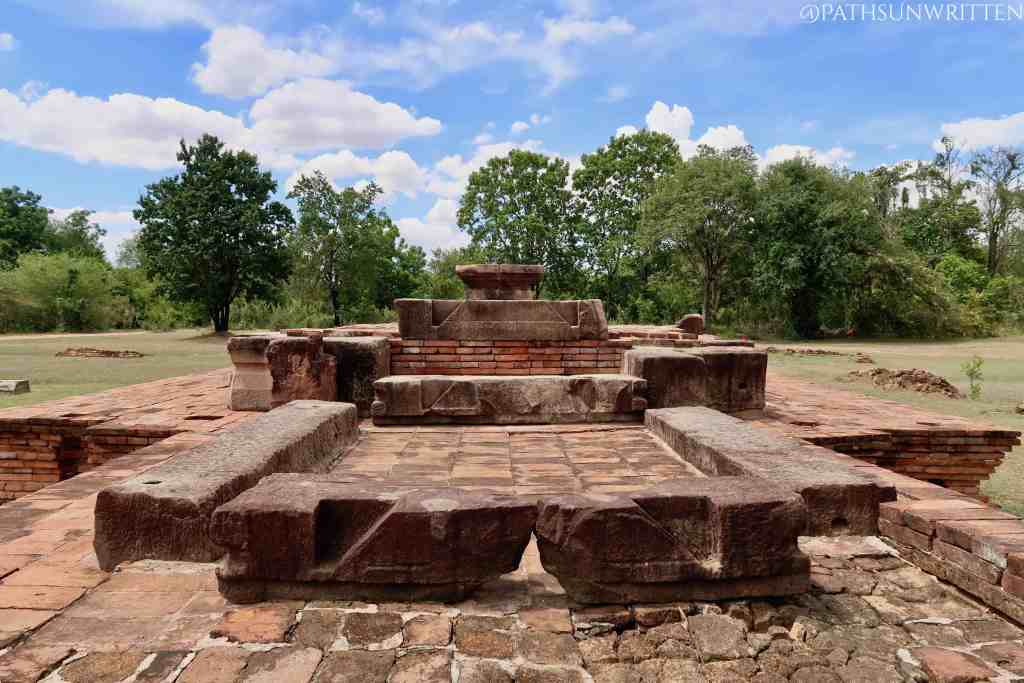 The Angkorian Monument No. 1 (Bo Ika temple) served as a Hindu Shaivite shrine, with the yoni still intact.
