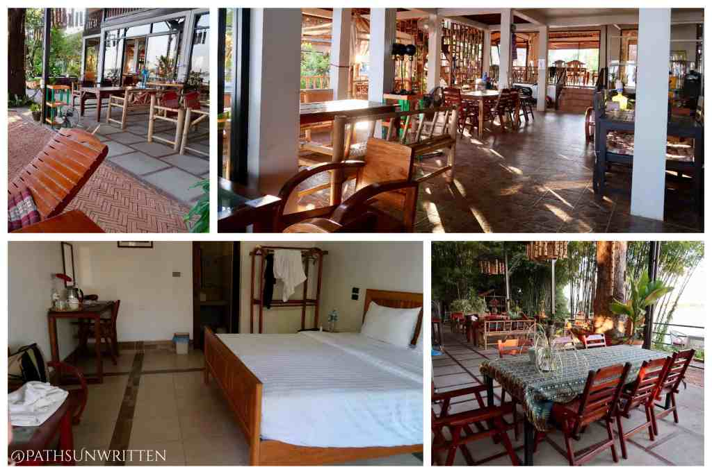 Champasak's Nakorn Cafe Guest House sits along a peaceful stretch of the Mekong River.