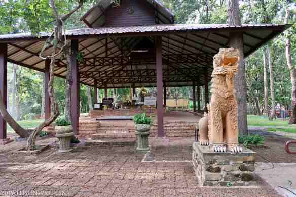 The more recent viharn of Wat Ku Din Khao within the Chiang Mai Zoo.