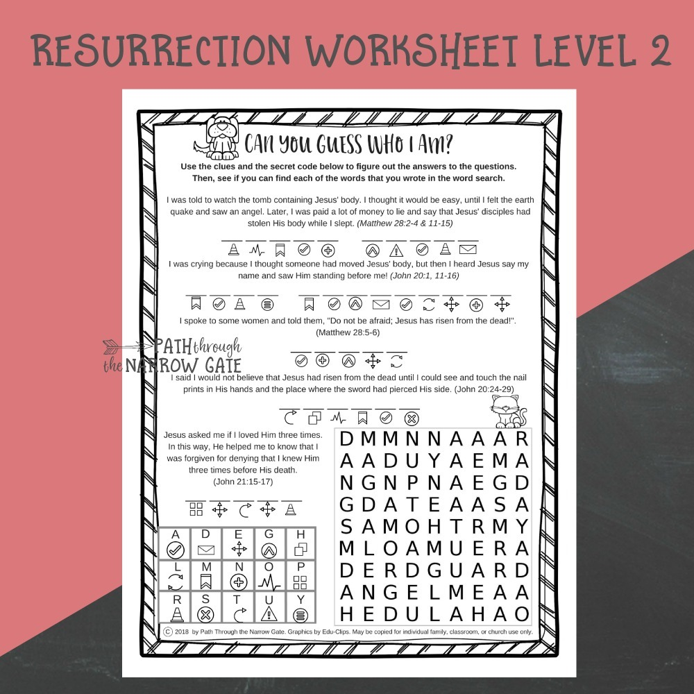 hight resolution of Easter Worksheets - Path Through the Narrow Gate