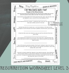 Easter Worksheets - Path Through the Narrow Gate [ 1000 x 1000 Pixel ]