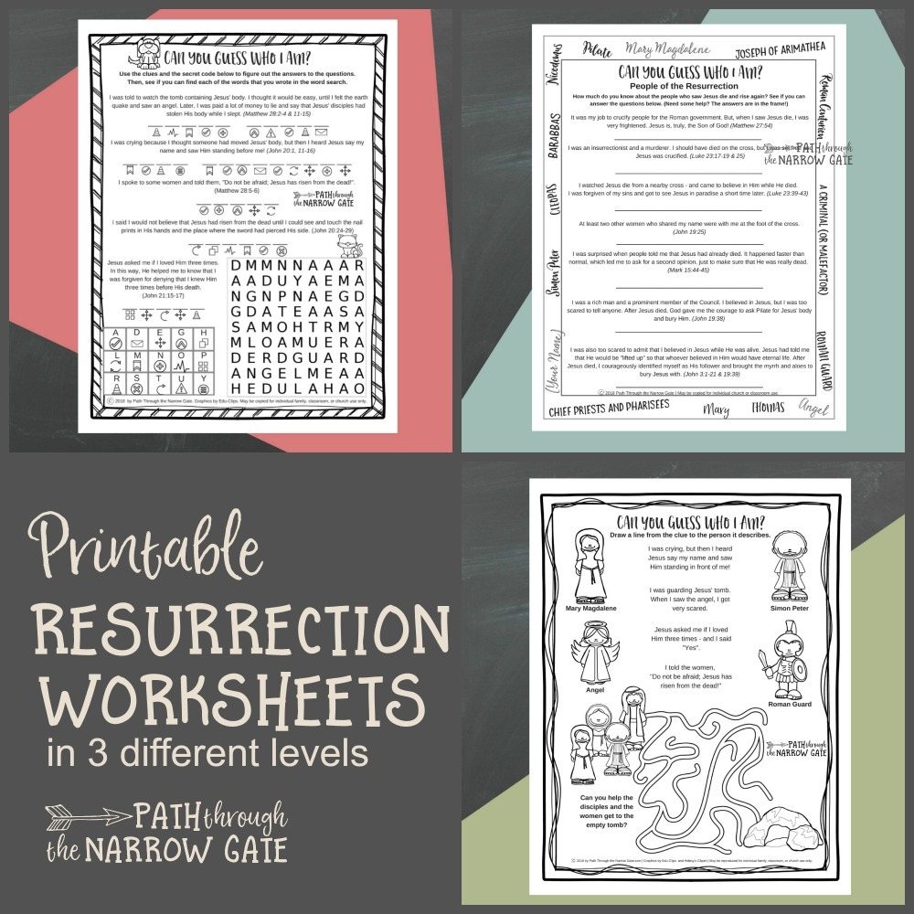 medium resolution of Easter Worksheets - Path Through the Narrow Gate