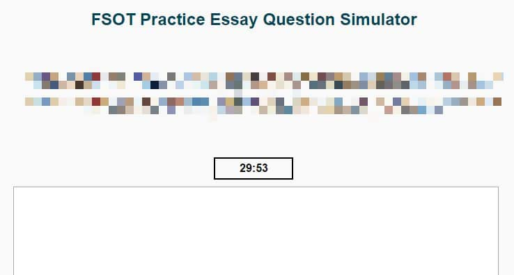 FSOT Practice Essay Question Simulator - Path to Foreign Service