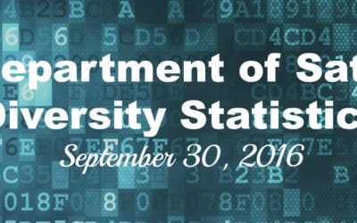 Department of Sate Diversity Statistics: Sept. 30, 2016